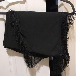 Black Fringe Kendall & Kylie mini skirt